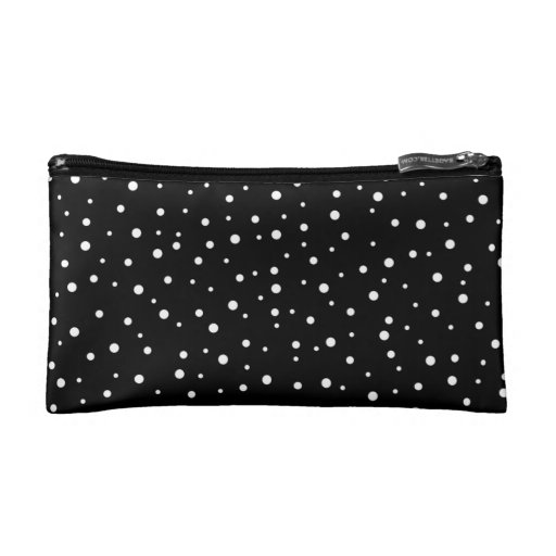 Black and White Spotty Pattern. Makeup Bag
