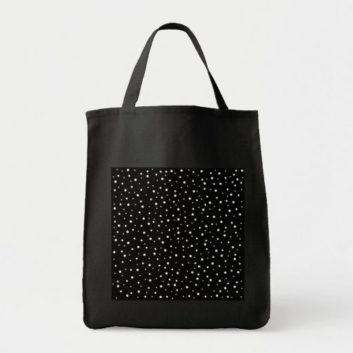 Black and White Spotty Pattern. Bags