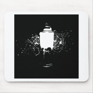 Black and White Spray Paint Can Splatter Art Mouse Pads