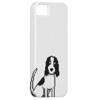 Black and White Springer/cocker Spaniel (pixel dog iPhone SE/5/5s Case