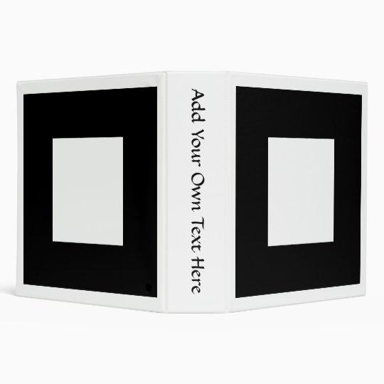 Black and White Square Design. Binder