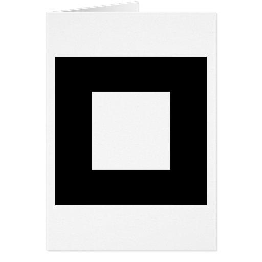 Black and White Square Design. Cards
