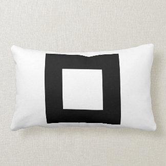 Black and White Square Design. Lumbar Pillow