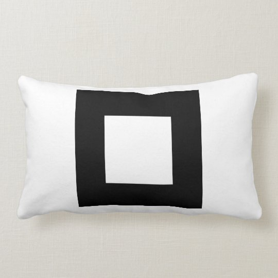 Black and White Square Design. Lumbar Pillow