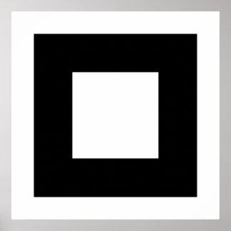 Black and White Square Design. Poster