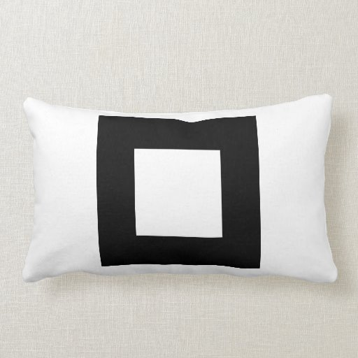 Black and White Square Design. Throw Pillows
