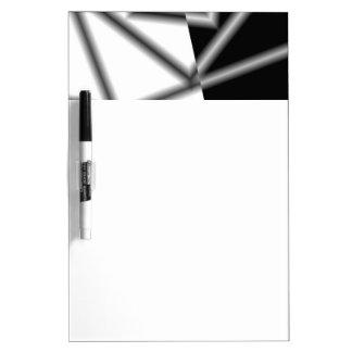 Black And White Square Inverted Graphic Dry-Erase Board