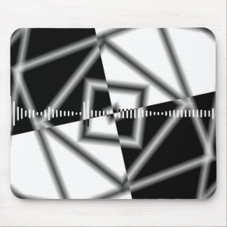 Black And White Square Inverted Graphic Mouse Pad
