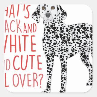 Black And White Square Sticker