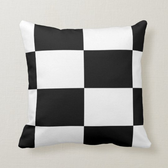 Black And White Squared Cushion