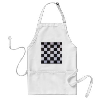black and white squares adult apron