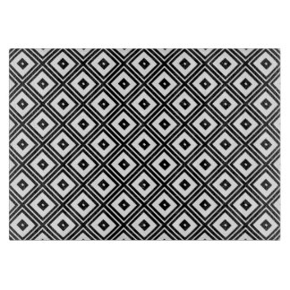 Black and White Squares Cutting Board