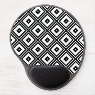 Black and White Squares Gel Mouse Pad