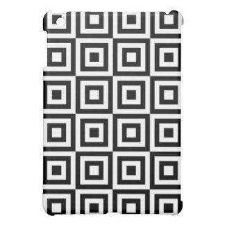 Black and White Squares Geometric Illusion Pattern Case For The iPad Mini