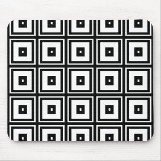Black and White Squares Mousepad