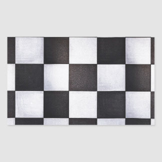 black and white squares rectangle sticker