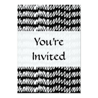 Black and white squiggle pattern. card