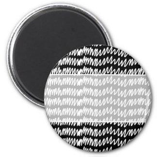 Black and white squiggle pattern. fridge magnet
