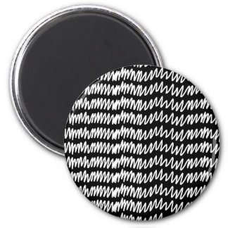 Black and white squiggle pattern. magnet