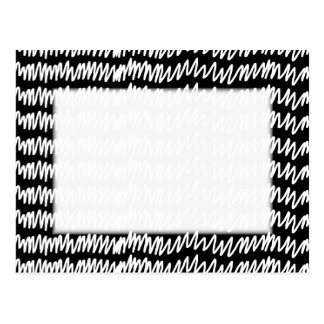 Black and white squiggle pattern. postcard