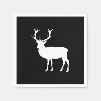 Black and White Stag Party Bachelor's Party Paper Napkins