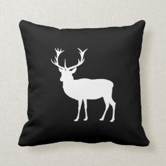 Black and White Stag Party Bachelor's Party Throw Pillow