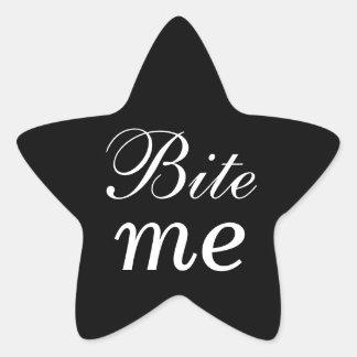 Black and White Star Bite Me Sticker