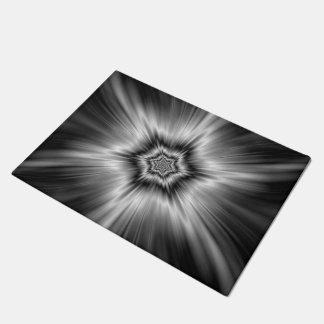 Black and White Star Burst Doormat