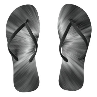 Black and White Star Burst Flip Flops