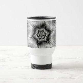 Black and White Star Burst Travel Mug