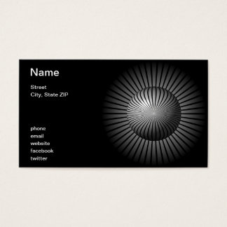 Black and White Star Globe Business Card