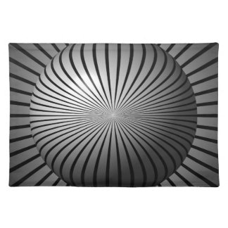 Black and White Star Globe Place Mats