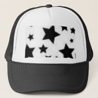 Black and white star hat