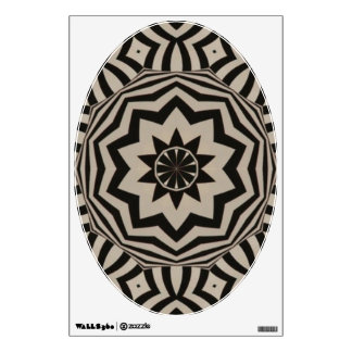 Black and White Star Pattern - Art for Your Toilet Room Decals