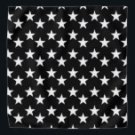 "Black and White Star Pattern Bandana<br><div class=""desc"">This cute bandana is the perfect accessory for you,  your child or your favorite dog.</div>"