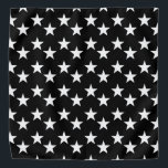 """Black and White Star Pattern Bandana<br><div class=""""desc"""">This cute bandana is the perfect accessory for you,  your child or your favorite dog.</div>"""