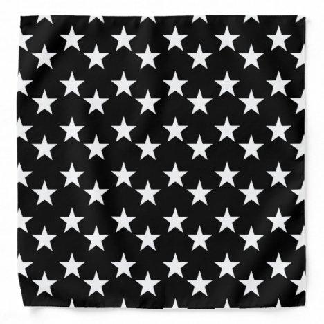 Black and White Star Pattern Bandana