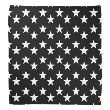 Black and White Star Pattern Bandana