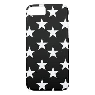 Black and White Star Print Phone Case