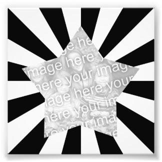 Black and White Starburst Frame Photo