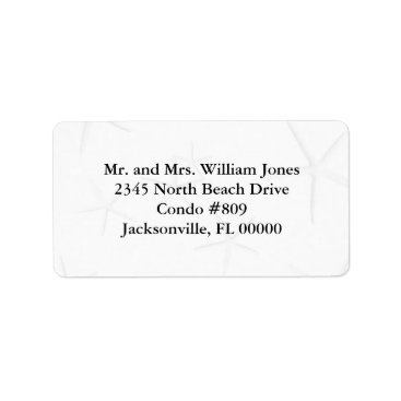 Beach Themed Black and White Starfish Custom Address Labels