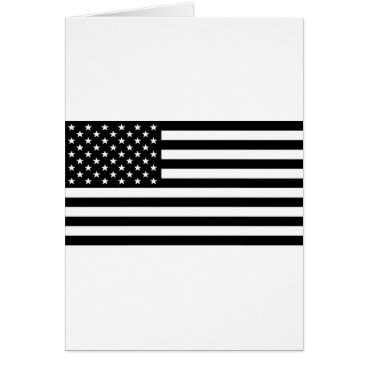 USA Themed Black And White Stars And Stripes Card