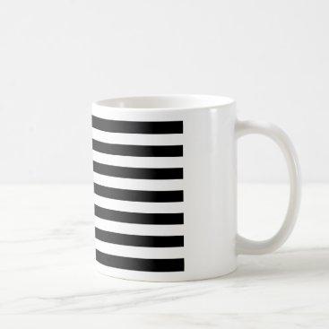 USA Themed Black And White Stars And Stripes Coffee Mug