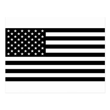 USA Themed Black And White Stars And Stripes Postcard