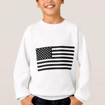 USA Themed Black And White Stars And Stripes Sweatshirt