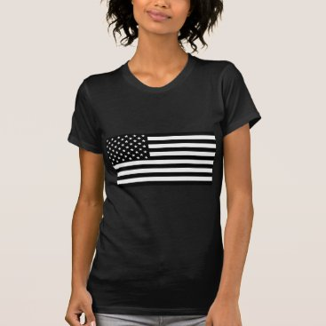 USA Themed Black And White Stars And Stripes T-Shirt