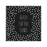 Black and White Stars Canvas Print