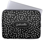 Black and White Stars Laptop Computer Sleeves