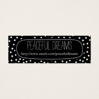 Black and White Stars Mini Business Card