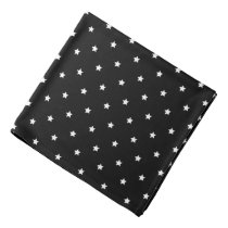 Black And White Stars Pattern Bandana